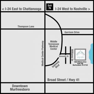 map to murfreesboro location stones river dermatology