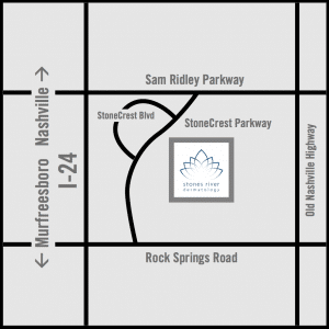 Map to Smyrna Location stones river dermatology