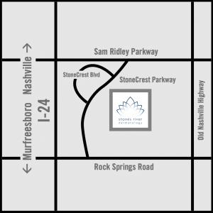 Map to Smyrna Location stones river dermatology